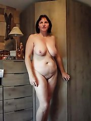 Raunchy mature cougars posing undressed on cam